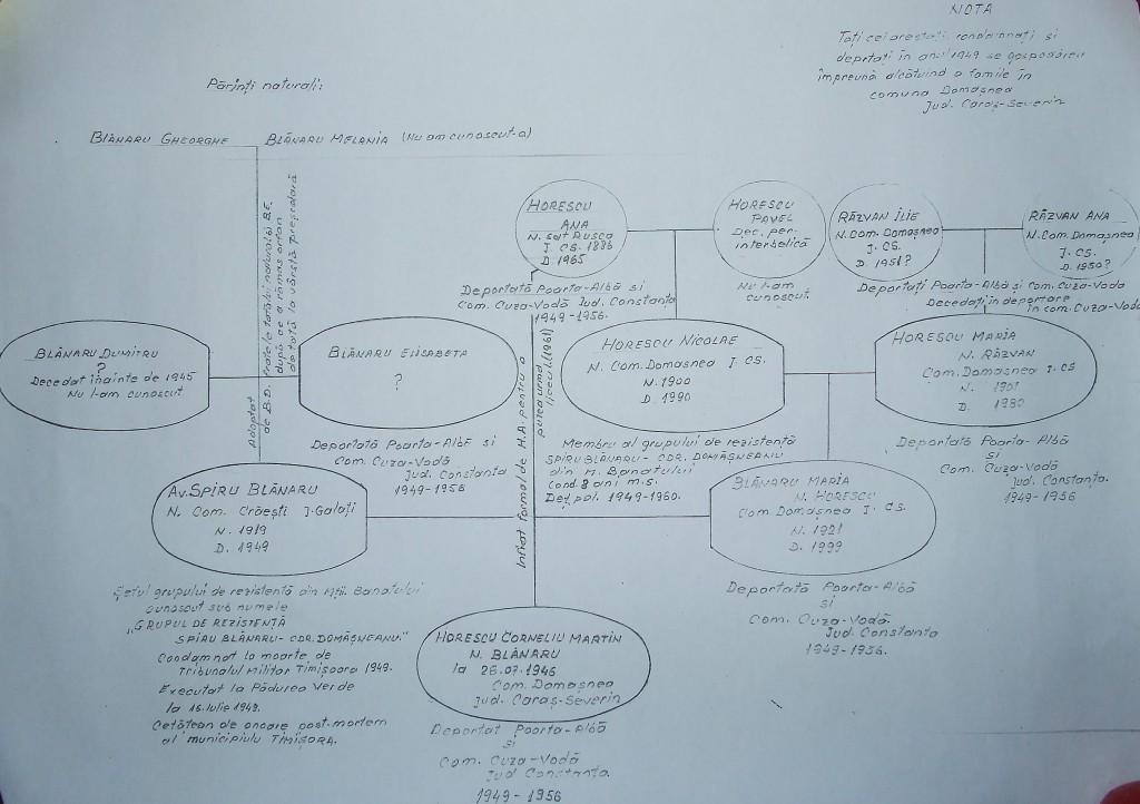 Arbore genealogic Cornel Horescu